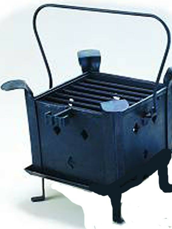 hand forged ironware brazier outdoor camping grill ebay. Black Bedroom Furniture Sets. Home Design Ideas