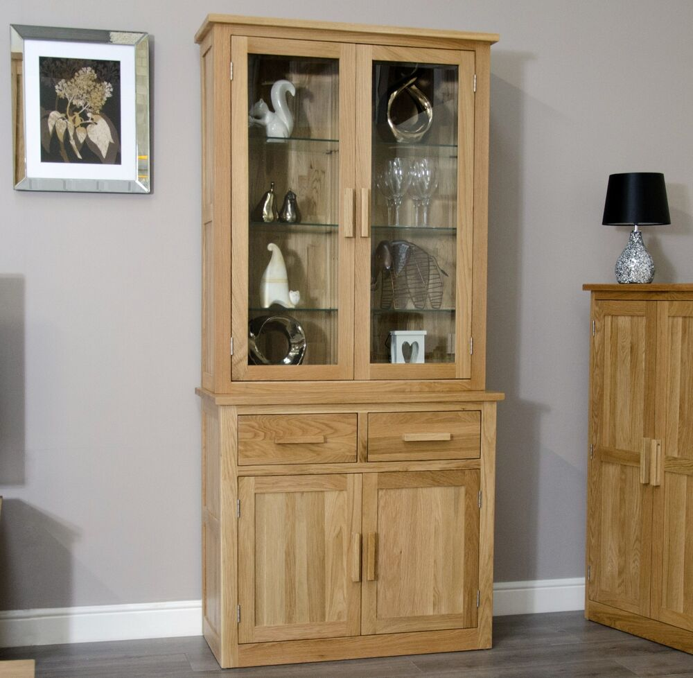 arden solid oak dining room furniture small china cutlery dresser glazed cabinet ebay
