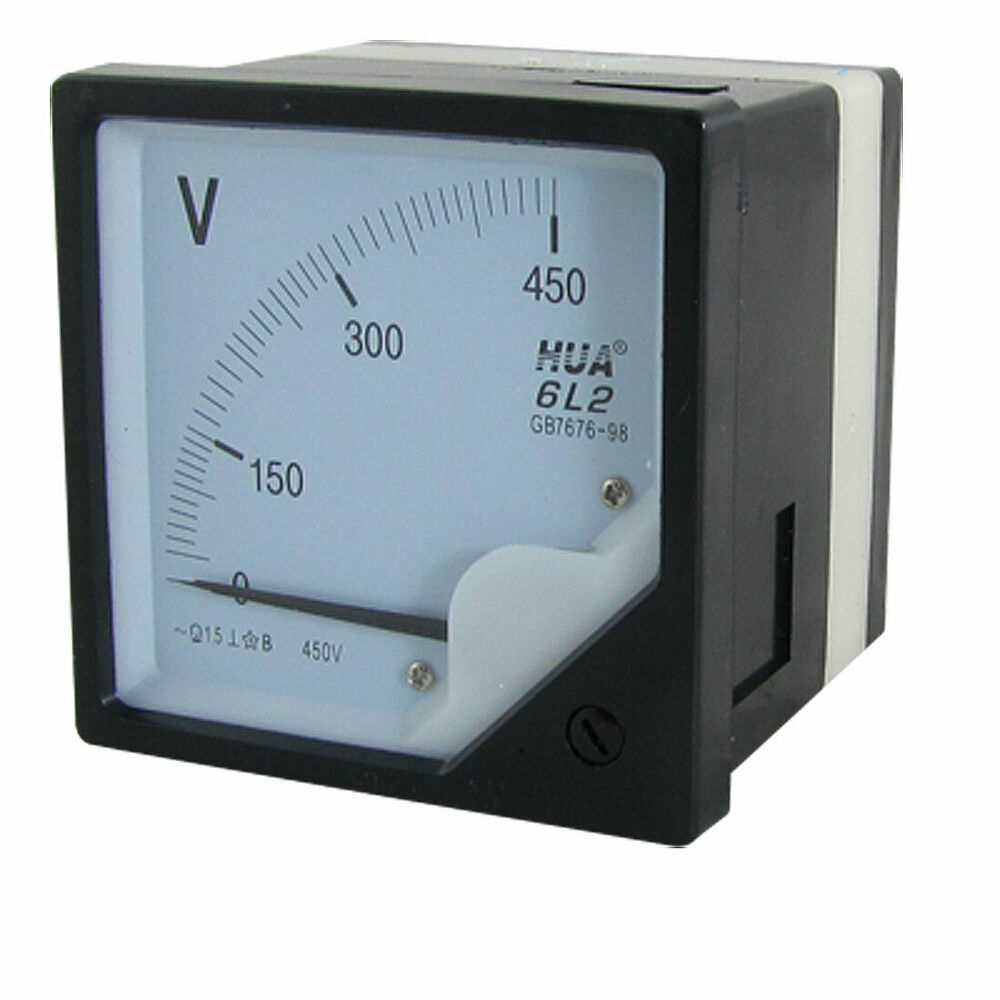 Ac Panel Meters : Square panel ac v volt voltmeter meter gauge ebay