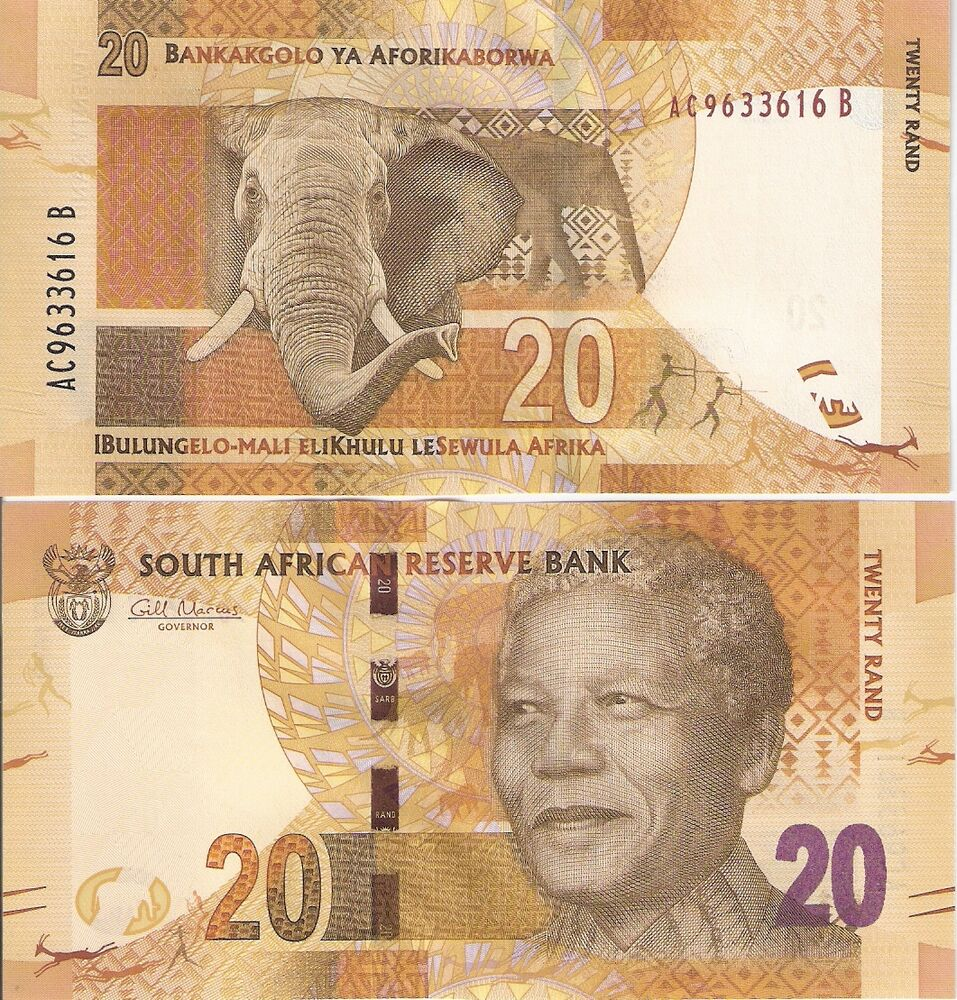 Money: SOUTH AFRICA 20 Rand Banknote World Paper Money UNC
