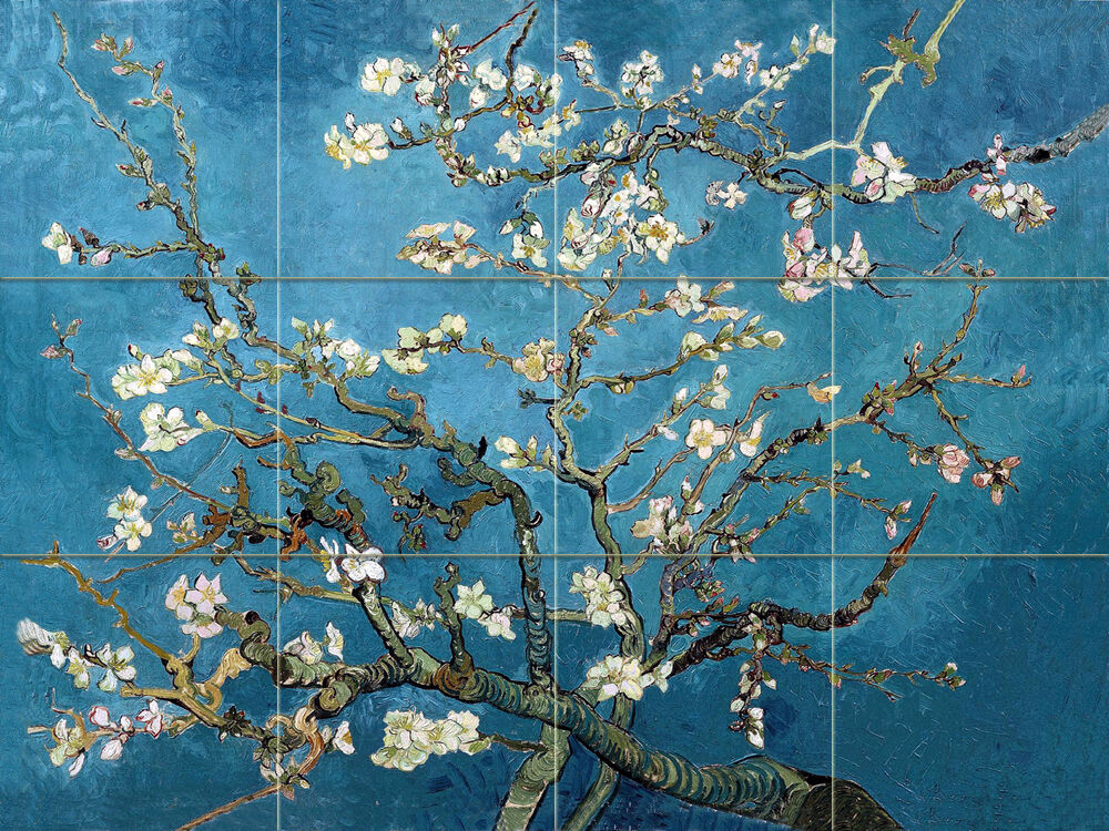 Vincent van Gogh Blossoming Almond Tree Ceramic Mural ...
