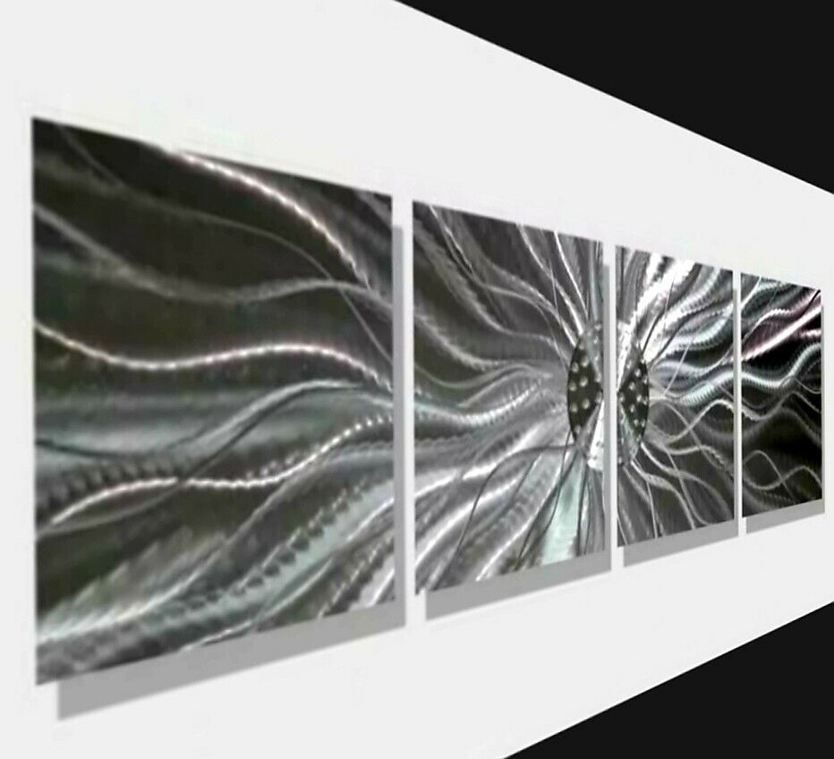 Modern abstract silver metal wall art home decor kinetic Home decor sculptures