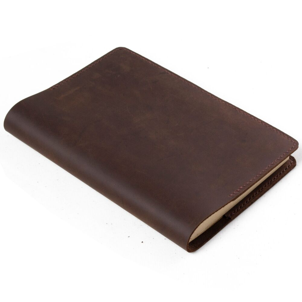 Classic Book Cover Diary : Ancicraft simple classic leather journal refillable a