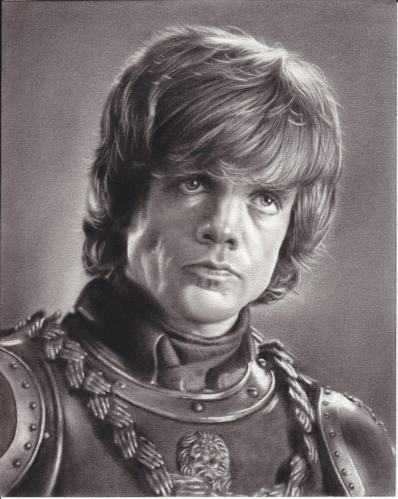 Game of Thrones Tyrion Lannister ART CHARCOAL DRAWING 8X10