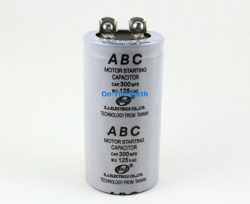 2 Pieces Electric Motor Start Capacitor Ac 125v 300 Mfd