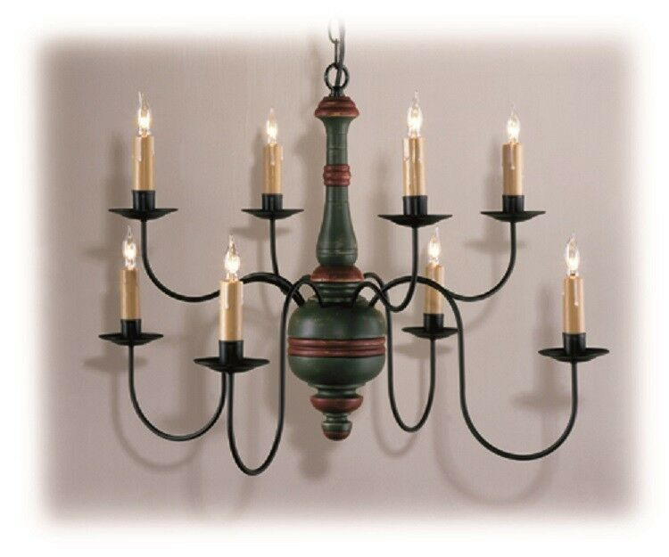 Country Traditions Lighting C405-8 Primitive wood center ...