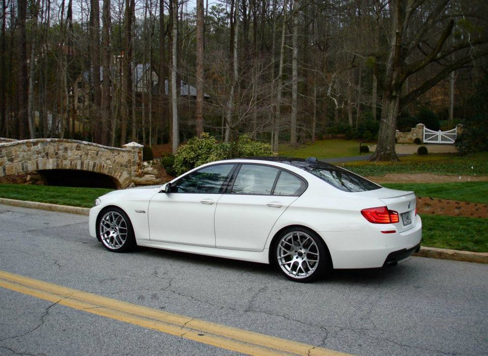 bmw f10 5 series 4 door sedan m5 style spoiler for 2010 2013 ebay. Black Bedroom Furniture Sets. Home Design Ideas