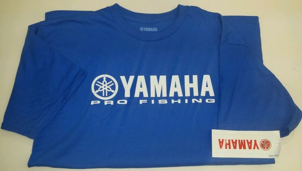 New Yamaha Short Sleeve Dark Blue Tee Shirt With Yamaha