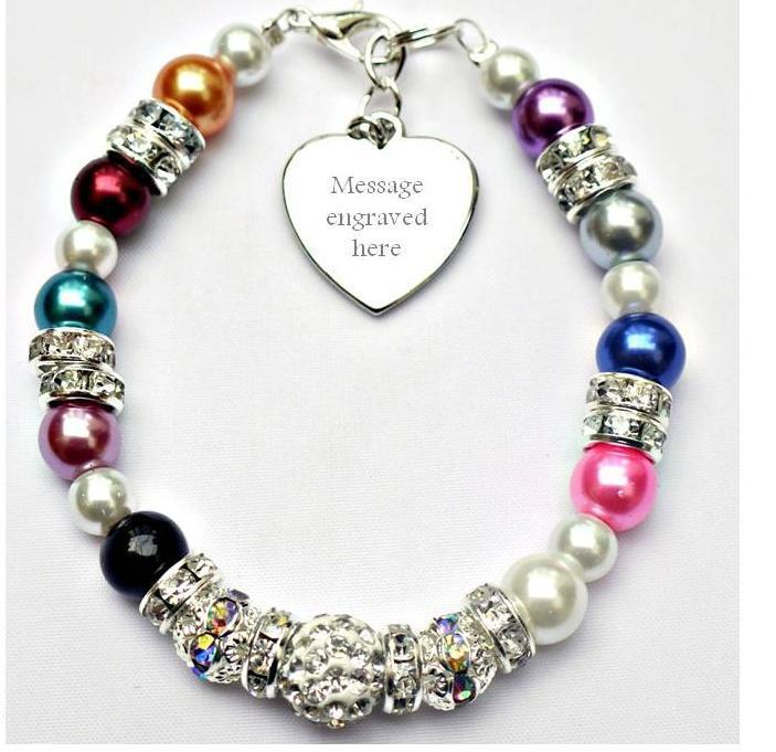 personalised engraved all any cancer support bracelet