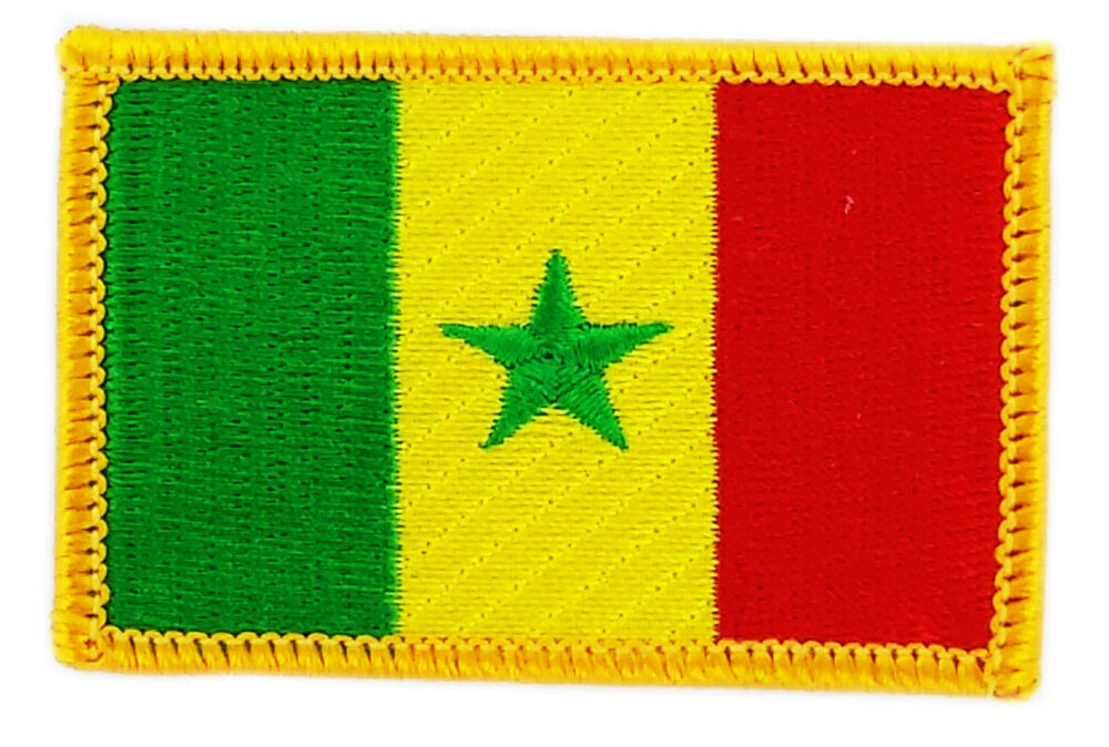 FLAG PATCH PATCHES SENEGAL IRON ON COUNTRY EMBROIDERED WORLD FLAG ...
