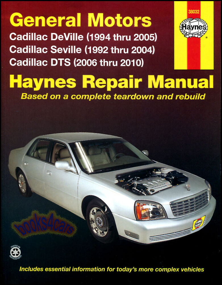 Shop Manual Cadillac Service Repair Haynes Book Chilton Deville Dts Seville Sts Ebay