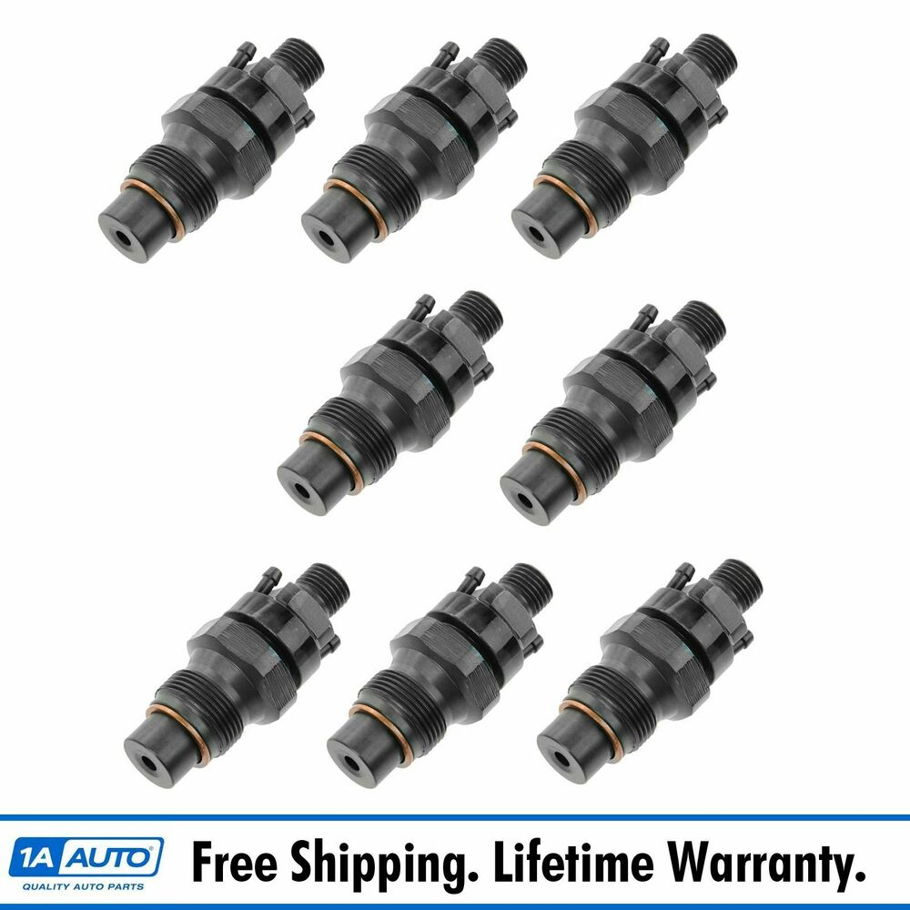 fuel injector set of 8 kit for chevy gmc pickup truck van 6 5l diesel ebay. Black Bedroom Furniture Sets. Home Design Ideas