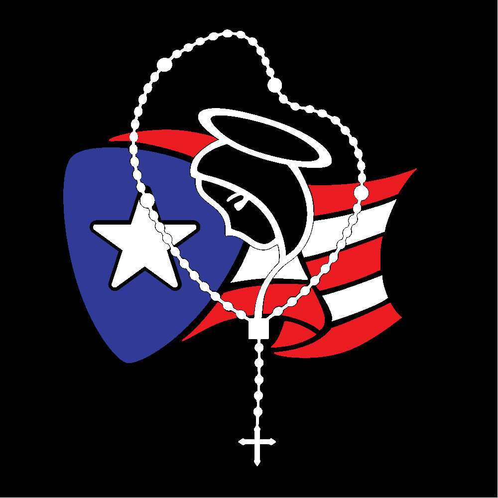 PUERTO RICO CAR DECAL STICKER ROSARY with FLAG #204A | eBay