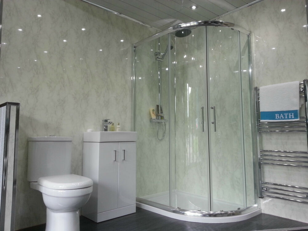 white pvc cladding for bathrooms 5 new white marble wall panels pvc bathroom cladding grey 24672