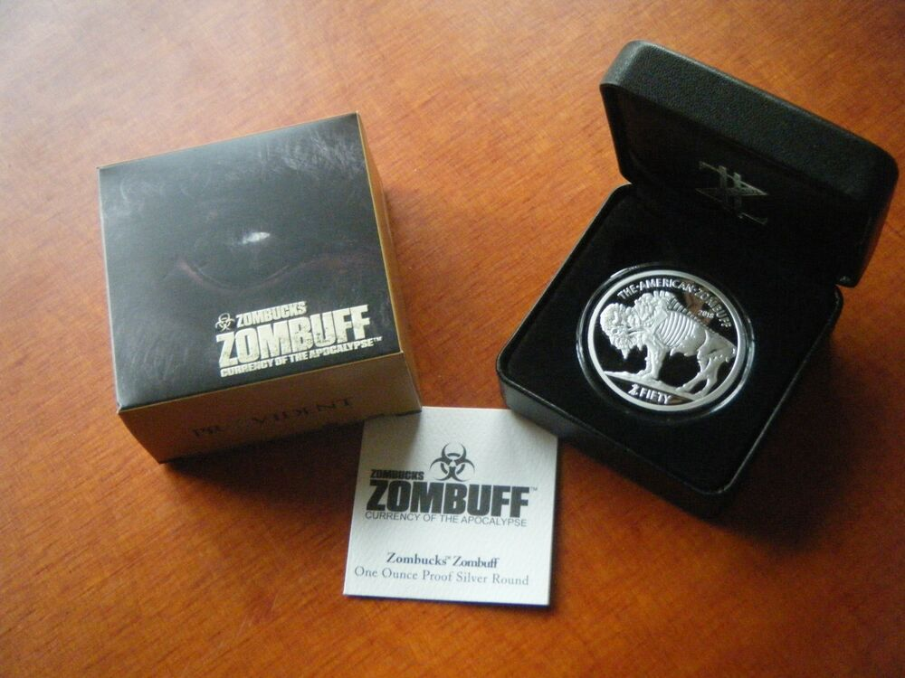 2018 Proof Silver Zombuff Buffalo Round Zombucks Z50 1 Oz