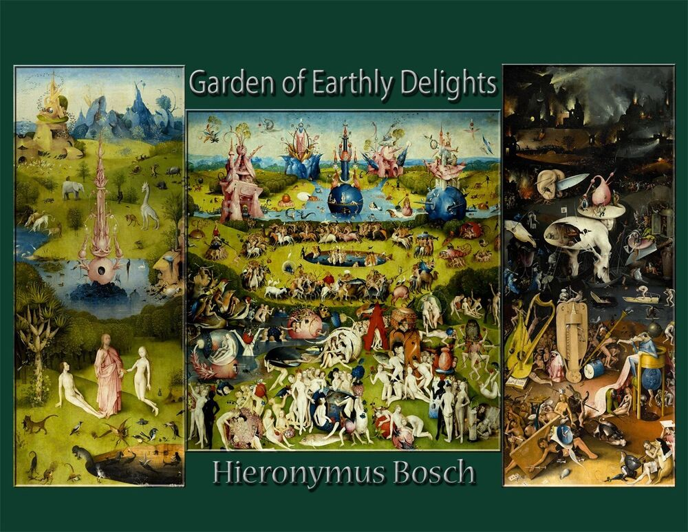 Hieronymus Bosch Art Print Poster Painting Repro 39 Garden Of Earthly Delights 39 Ebay
