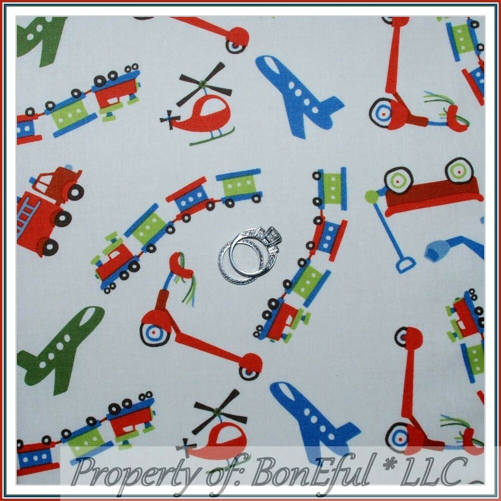 Boneful fabric fq cotton quilt blue vtg baby boy airplane for Airplane print cotton fabric