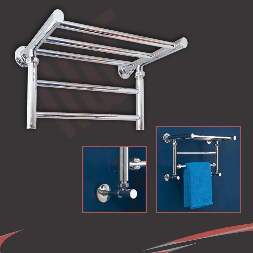 "1pc Heated Towel Rail Holder Bathroom Accessories Towel: 500mm(w) X 350mm(h) ""Tryfan"" Chrome Shelf Heated Towel"