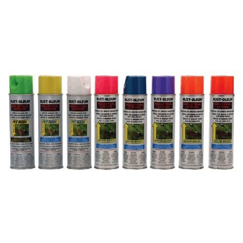 rustoleum 17oz water based inverted marking paint 12 cans