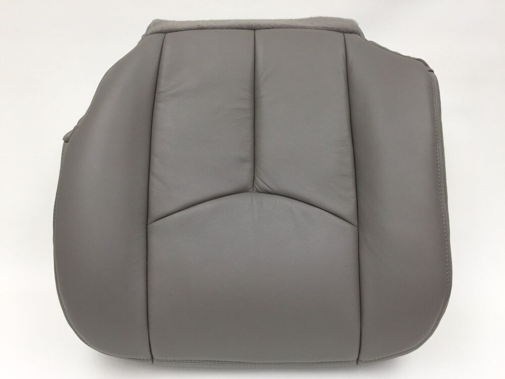 03 06 tahoe silverado seat cover upholstery driver vinyl med pewter gray 922 ebay. Black Bedroom Furniture Sets. Home Design Ideas