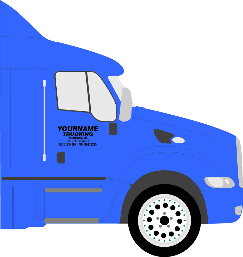truck door lettering semi truck decals ebay With truck door lettering