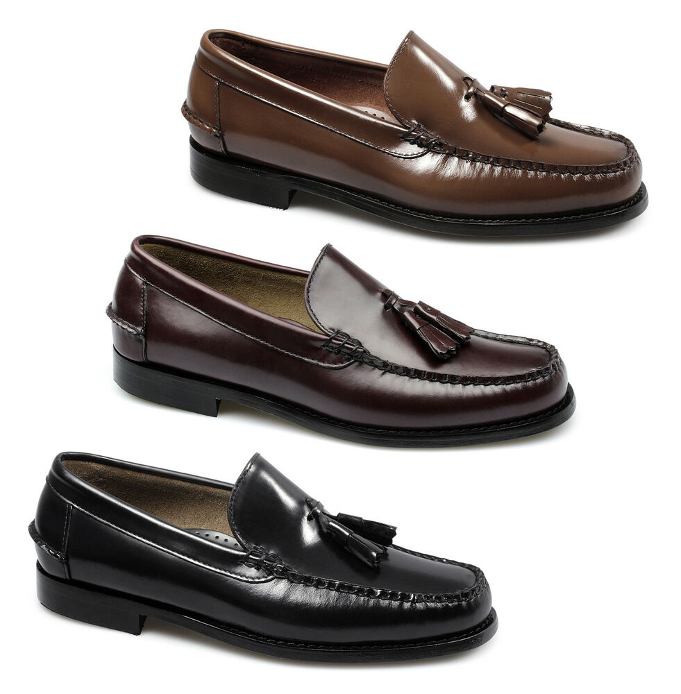 Vintage Land Rover Mens Loafer Driving Moccasin Brown: CALABRIA Mens Spanish Hand Stitched Leather Moccasin