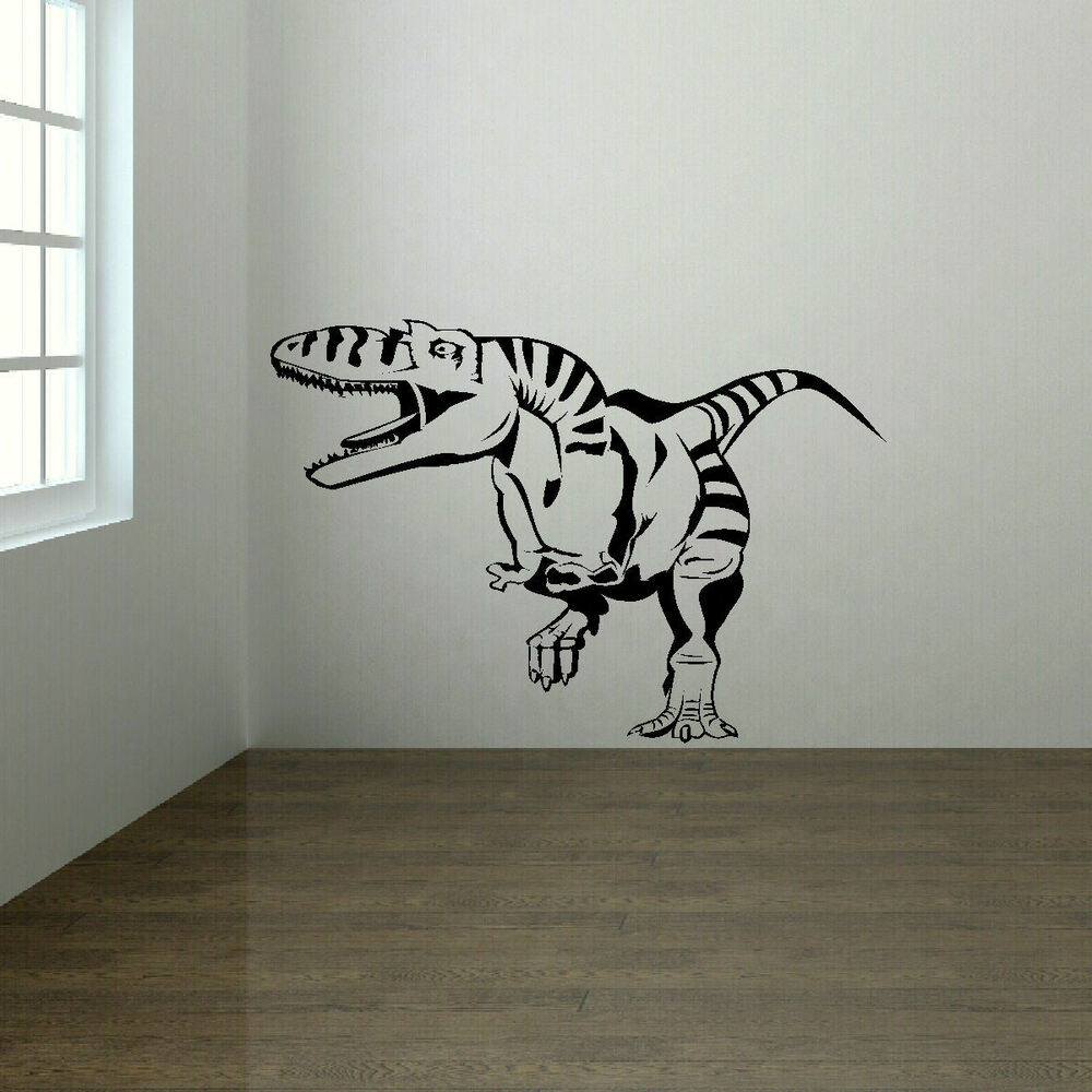 EXTRA LARGE DINOSAUR T REX TREX WALL STICKER STENCIL NEW ...
