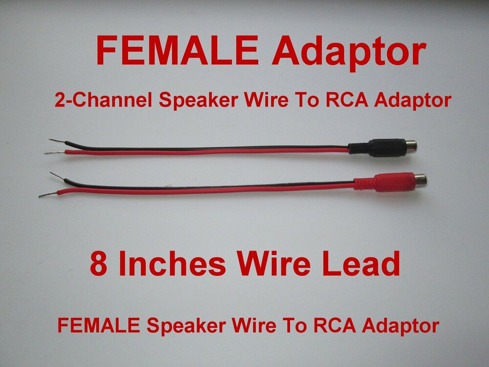 2 Channel Speaker Wire To Rca Adapter For Amp Receiver