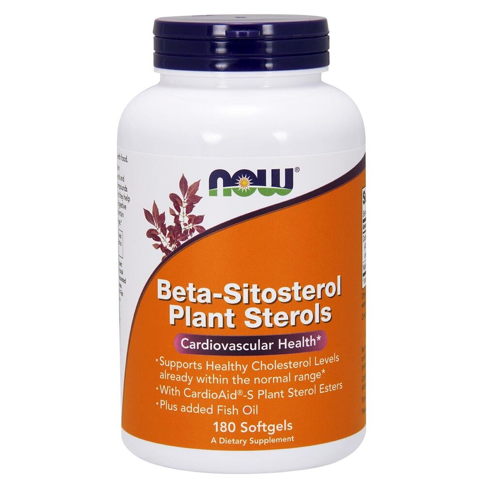 Now foods beta sitosterol plant sterols w fish oil 180 for Is fish oil good for cholesterol
