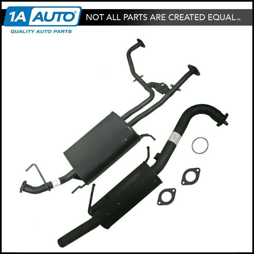 Muffler Amp Tailpipe Exhaust System Rear For Infiniti Qx4