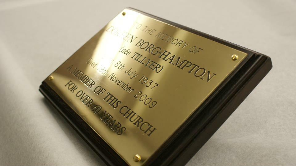Solid Brass Engraved Plaque High Quality Plate Deep