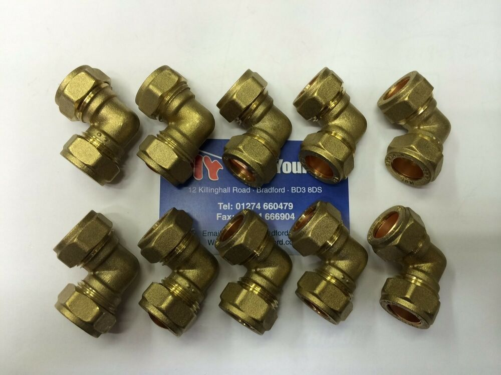 10 x compression plumbing pipe water fittings 15mm elbows ebay solutioingenieria Choice Image