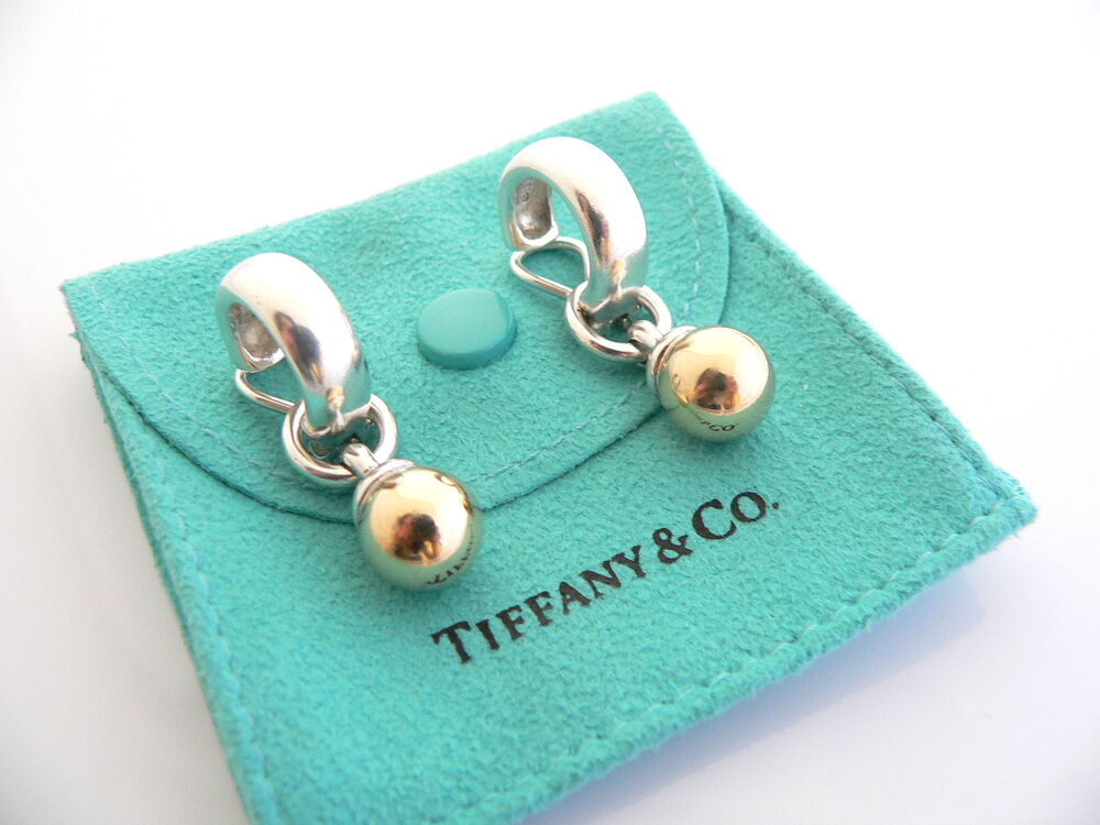 Tiffany Amp Co Silver 18k Gold Fascination Ball Dangling