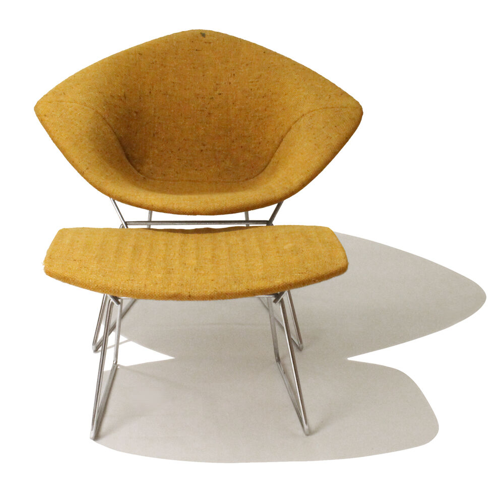 Bertoia diamond chair vintage - Rare Vintage Knoll Diamond Lounge Chair W Ottoman By Harry Bertoia With Tag Dwr Ebay