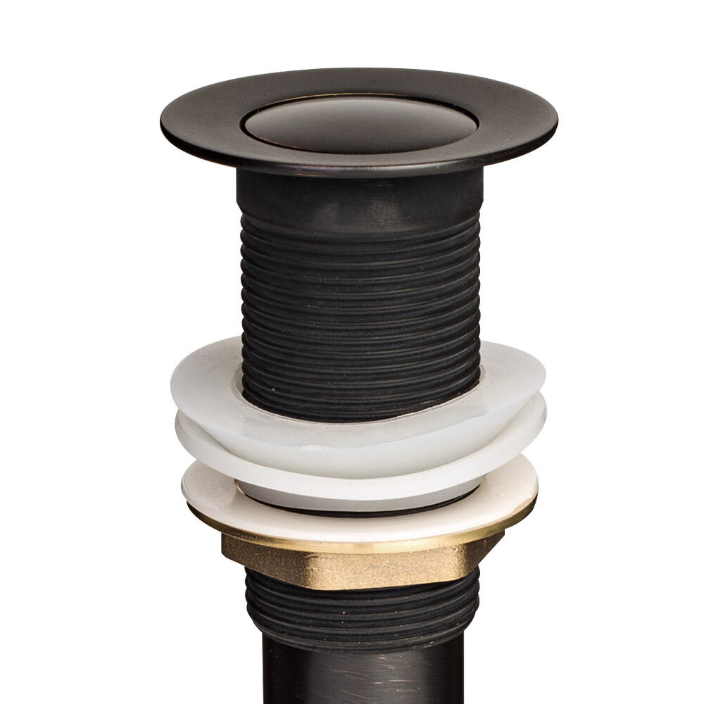 New 1 1 2 oil rubbed bronze pop up drain without overflow for 2 kitchen sink drain
