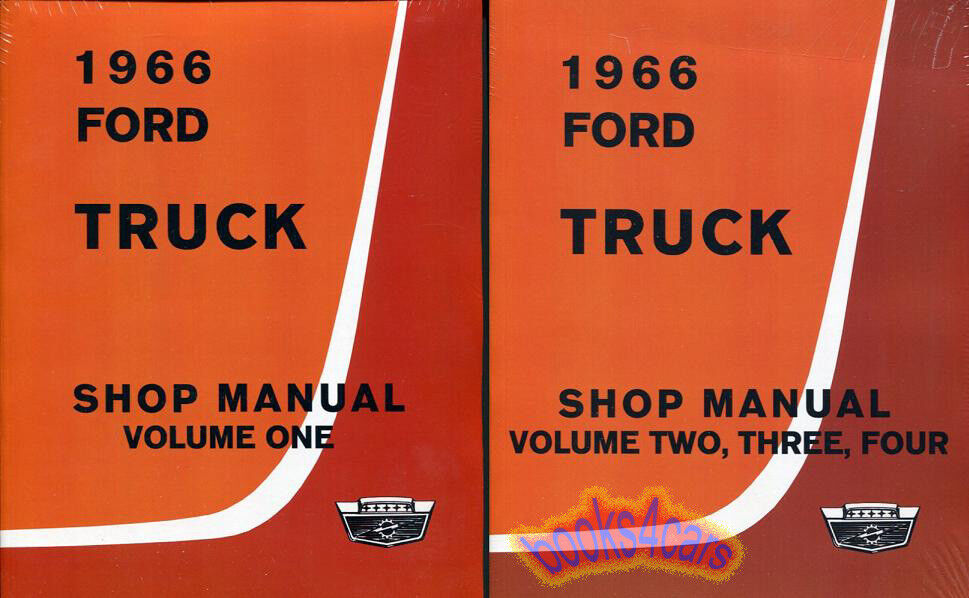 Shop Manual Ford Truck Service Repair 1966 Book F100 F150 F250 Pickup F350 F500