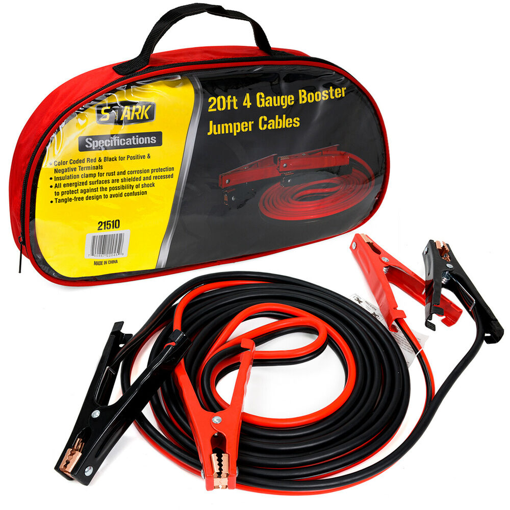 Battery Jumper Cables : Ft gauge heavy duty power booster cable emergency car