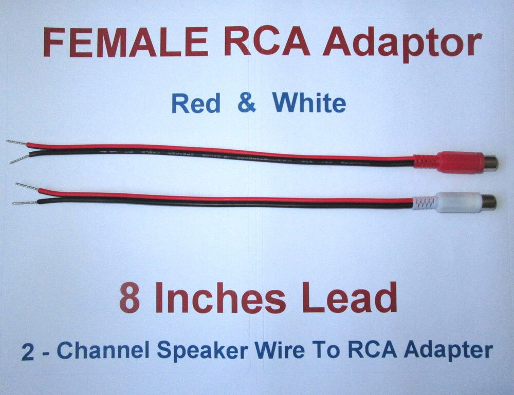 2 Channel Speaker Wire Rca Adapter For Amp Receiver