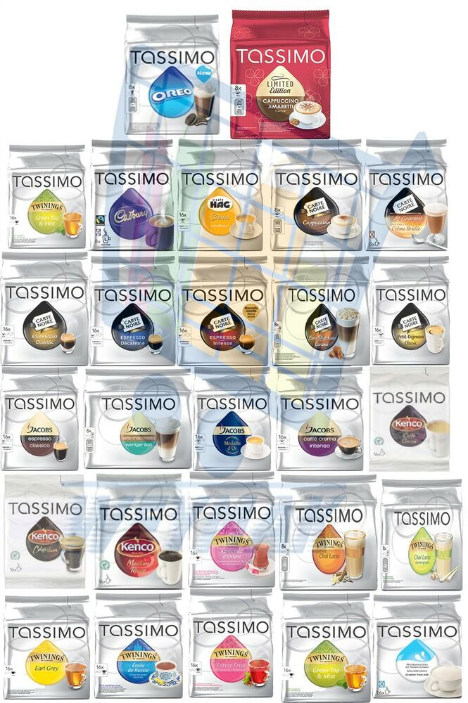 tassimo t discs full packs coffee pods free delivery ebay. Black Bedroom Furniture Sets. Home Design Ideas