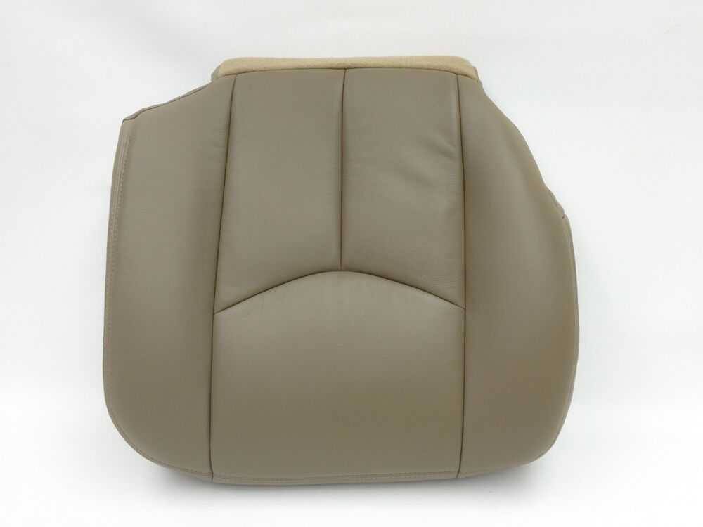 03 06 chevy avalanche silverado leather passenger seat cover medium neutral tan ebay. Black Bedroom Furniture Sets. Home Design Ideas