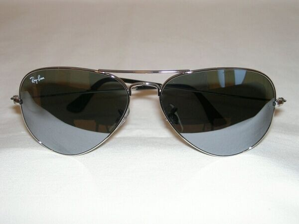 9fcafe7bac Details about New Ray Ban AVIATOR Sunglasses Silver Frame RB 3025 003 40  Mirror Lenses 62mm