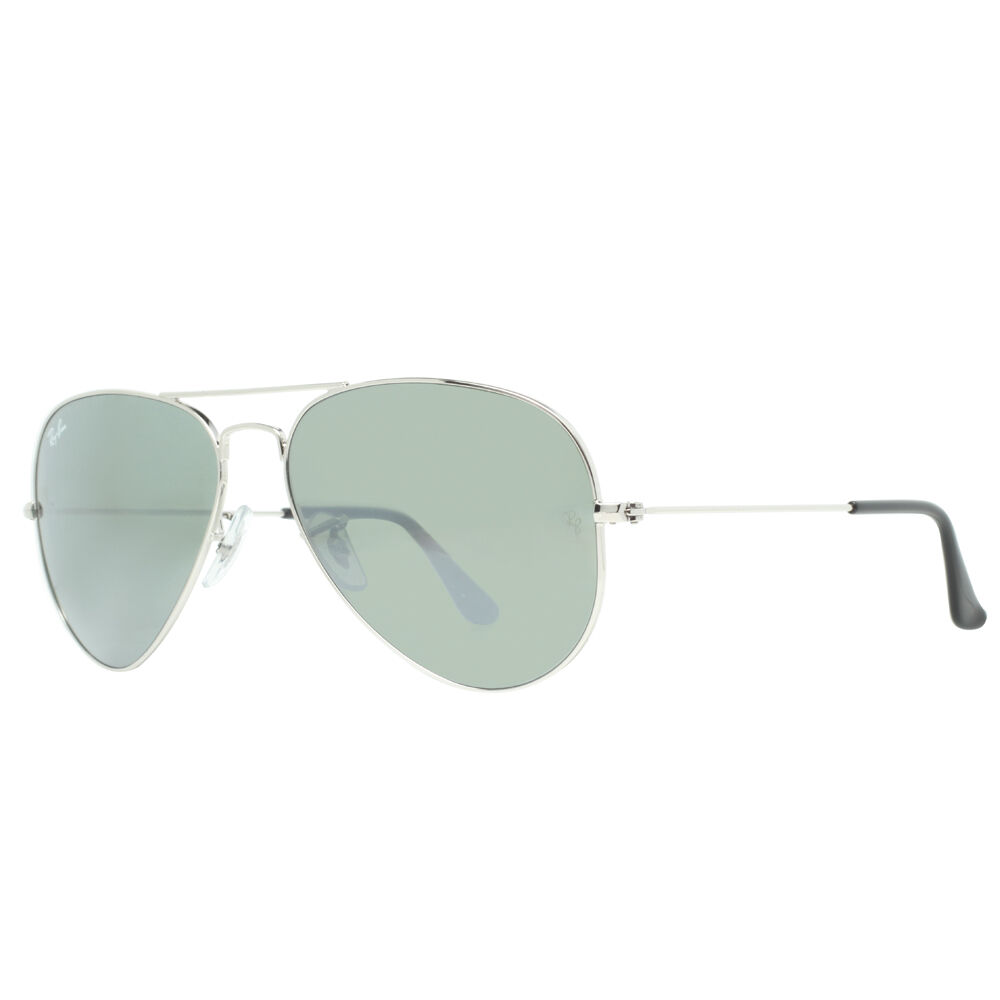 Ray ban rb 3025 w3275 55mm small silver mirror aviator for Small silver mirror