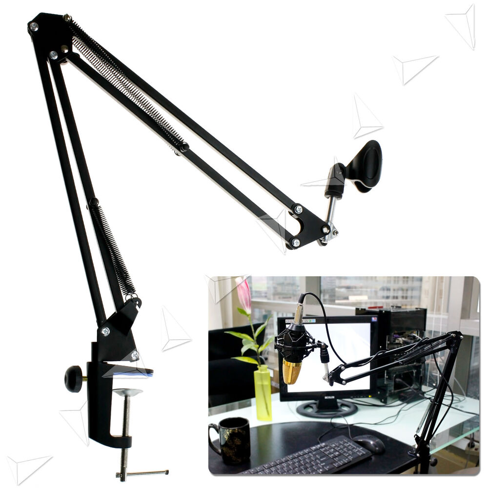 Recording microphone broadcast studio suspension boom for Suspension metal