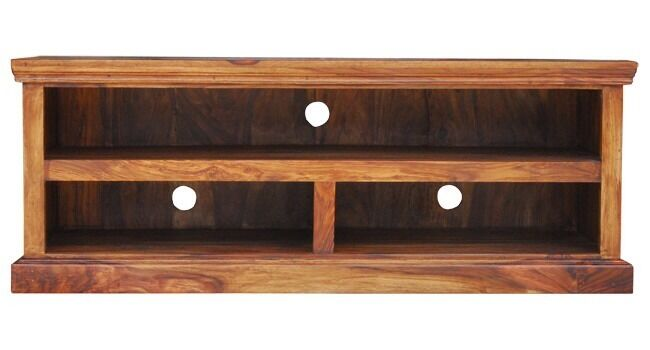SOLID SHEESHAM WOOD WIDESCREEN TV LCD PLASMA CABINET STAND