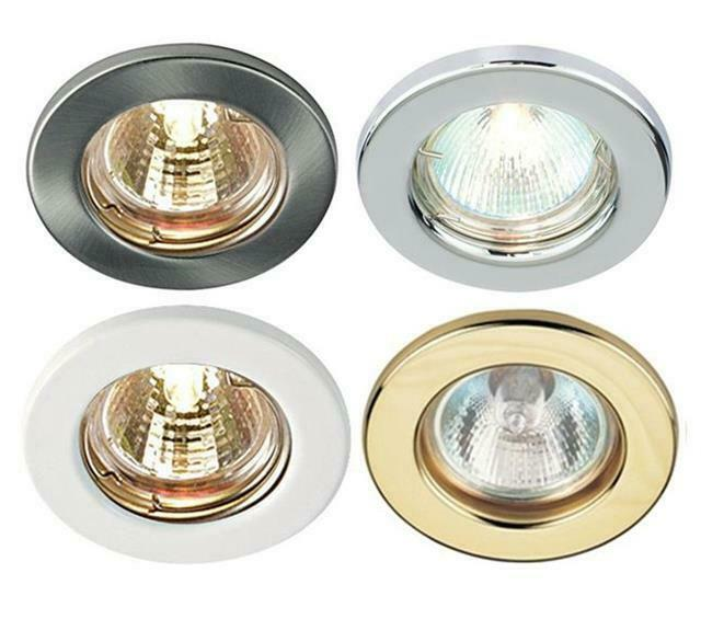 Mains 240V GU10 LED Fixed Ceiling Light Spotlights Downlights Recessed  Fitting | eBay