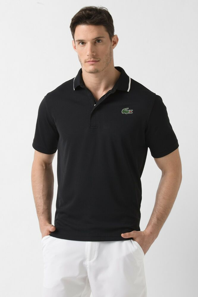 lacoste sport men 39 s xs size 3 100 poly polo shirt in navy blue dh9394 51 nwt ebay. Black Bedroom Furniture Sets. Home Design Ideas
