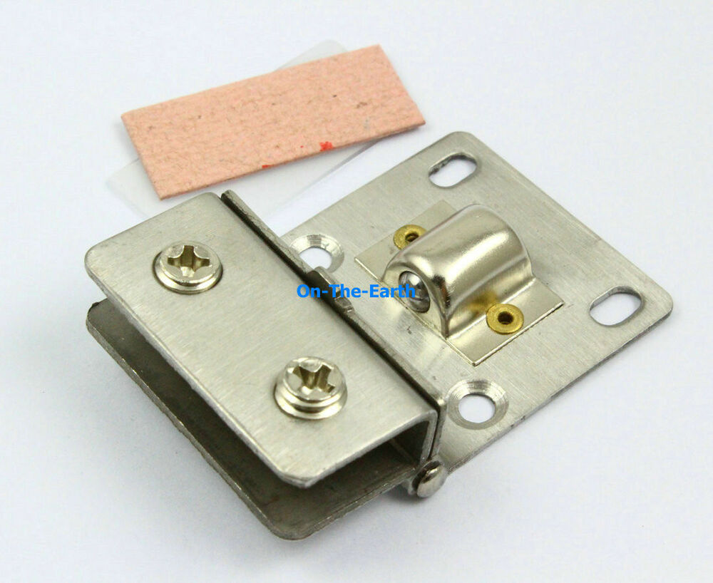 4 pieces cabinet glass pivot door hinge clamps for 4 8mm for Glass cabinet hinges