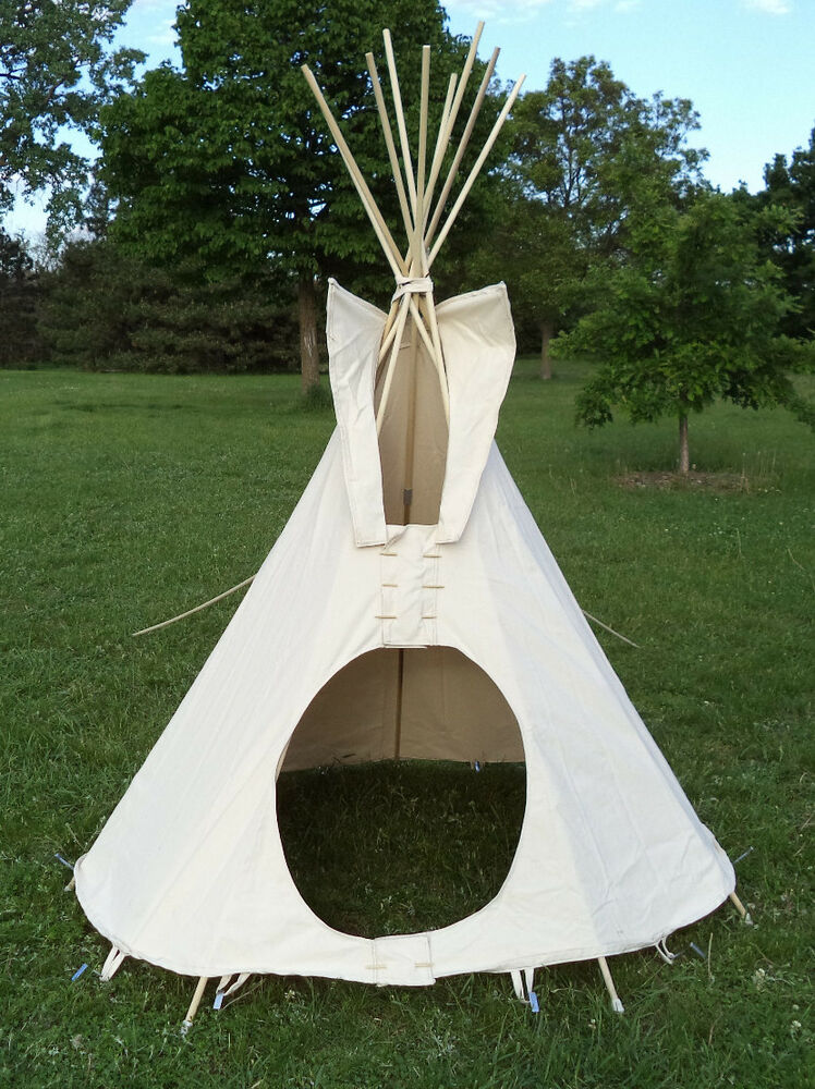 6 Ft Diameter Tipi Teepee Or Tepee 100 Cotton Duck