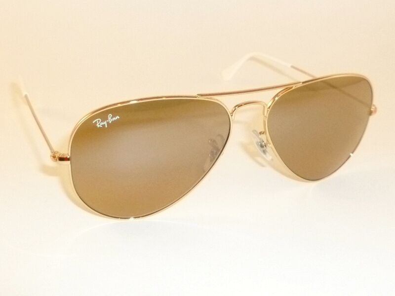Gold Frame Ray Ban Sunglasses : New RAY BAN Aviator Sunglasses Gold Frame RB 3025 001/3K ...