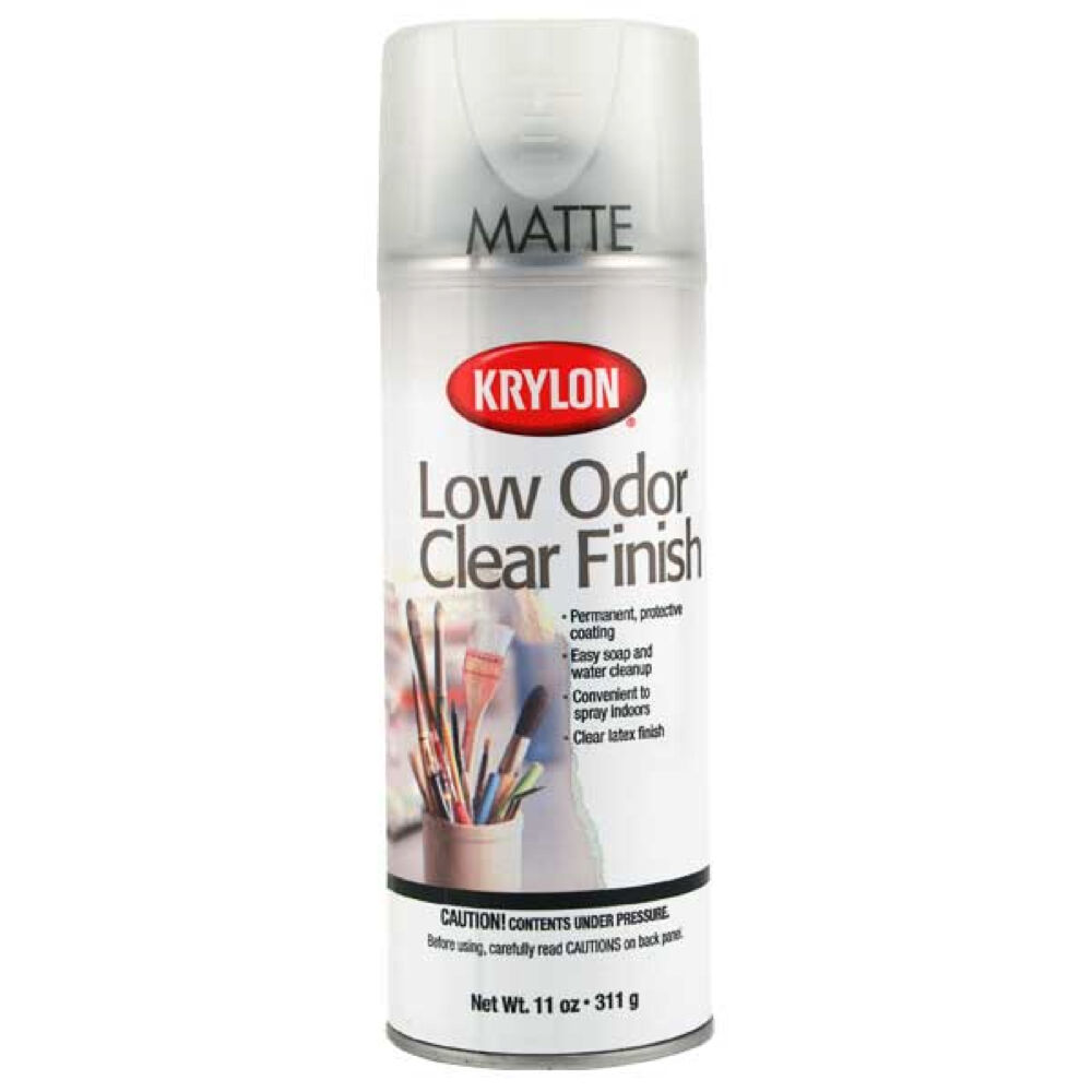 krylon 7120 low odor clear matte 11 oz orm20 ebay. Black Bedroom Furniture Sets. Home Design Ideas